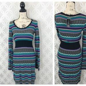 INC International Concepts Knit Long Sleeve Dress